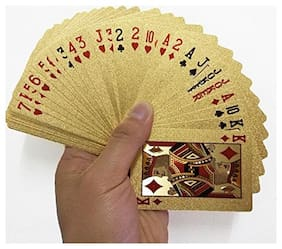 Gold Plated Playing Cards For Magic, Poker, Teen Patti, Nightout Fun, Timepass ( Pack of 1 )
