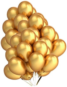 Golden Metallic Party Balloons 50pcs. for birthday anniversary festival etc party decoration
