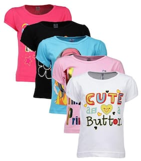Goodway Girl Cotton Printed T Shirt - Pink