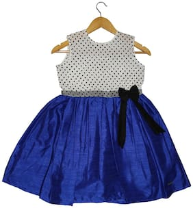 Goodwill Baby girl Silk Solid Princess frock - Blue