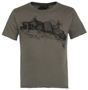 Grain Boy Cotton Printed T-shirt - Grey