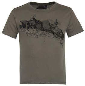 Grain Boy Cotton Printed T-shirt - Grey