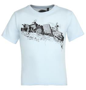 Grain Boy Cotton Printed T-shirt - Blue