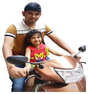Granian Kids Safety Belt for Two Wheeler Front and Back Sitting (HAPPYMAN_RED)