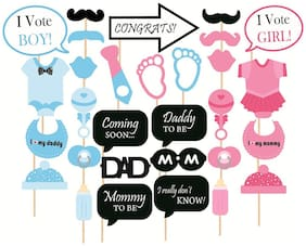 Grapits Baby Shower Party Props ( Set Of 30) Photo Booth Props