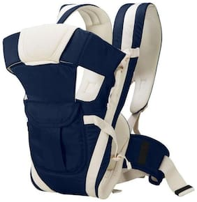 GTC Adjustable Hands-Free 4-in-1 Baby Carrier Bag , Carry Bag , Front Carry Bag with Comfortable Head Support & Buckle Straps waist Belt (Navy Blue)