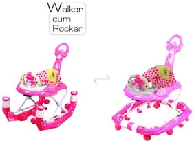 GTC Baby Apple Walker Function Walker Cum Rocker 2-in-1 ITN - 815-1 (Pink)