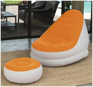 GTC Bestway Comfort Cruiser Inflate A Chair with Stool - (75053) Orange