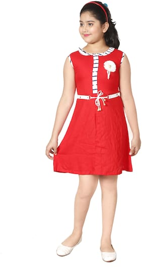 Red Collar Frock