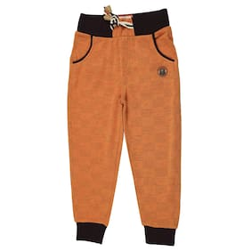 Gusto Boy Polyester Track pants - Orange