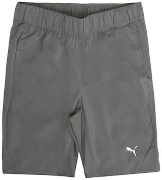 Puma Boy Solid Shorts & 3/4ths - Grey