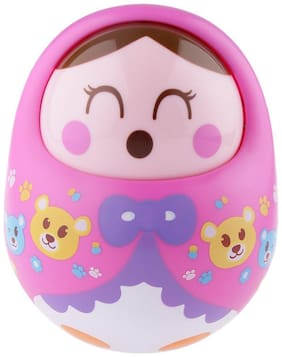 HALO NATION Wobbling Roly Poly Tumbler Doll With Soft and Sweet Bell Sounds (Yellow)