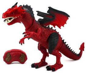 HALO NATION Dinosaur - Remote Controlled Dragon - Walking & Roaring with Light Up Eyes & Sounds - Jurassic Park Theme