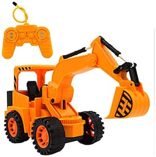 HALO NATION Remote Control JCB Style Excavator Construction toy