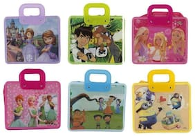 Handle Bag for Kids Birthday Return Gift Party Favor (Pack of 6)