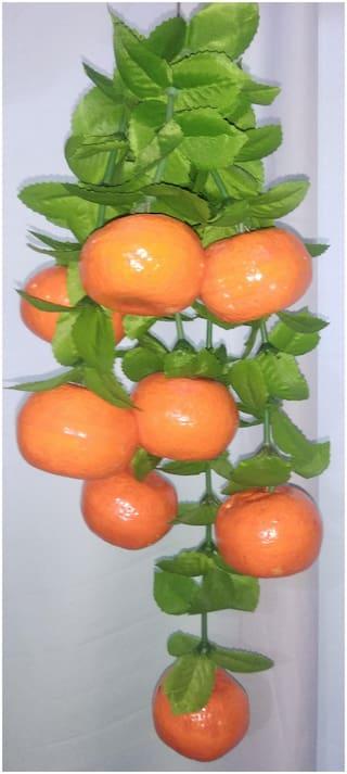 Hanging Orange Artificial Fruit  (Set of 8)