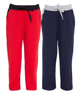 HAOSER Boy Cotton Track Pants - Red & Blue