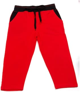 HAOSER Boy Cotton Track pants - Red