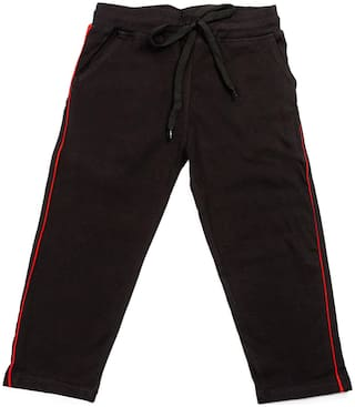 HAOSER Boy Cotton Track pants - Black