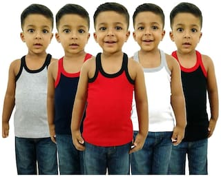 Hap Vest For Boys - Multi , Set of 5