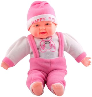 Happy Baba Musical and Laughing Boy Doll, Touch Sensors (40cm)(Pink Color) By Signomark.