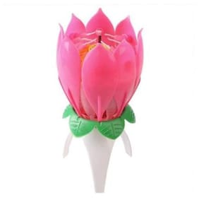 HAPPY birthday musical flower candle