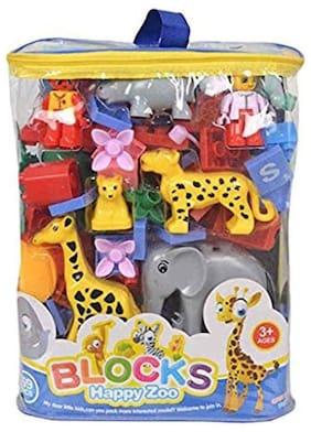 Happy Zoo Animal Blocks Game Toys