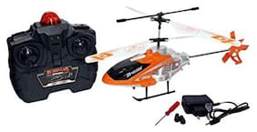 Heady Daddy  Kids Good Quality Foreign RC Velocity Helicopter with Light (Orange)