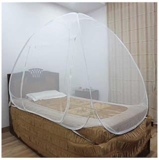Healthgenie Foldable Mosquito Net for Single Bed - White
