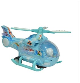 Helicopter With Led Lights On Wings And Music
