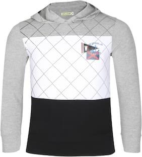 HELLCAT Boy Cotton Colorblocked T-shirt - Grey