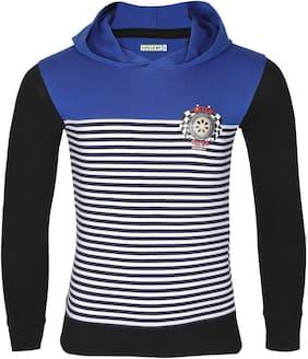 HELLCAT Boy Cotton Striped T-shirt - Blue
