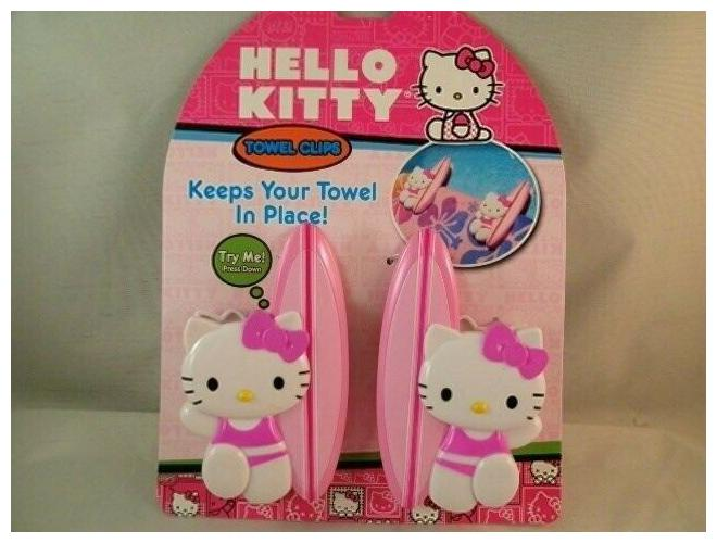 Pink Hello Kitty Beach Towel Clips Set Of 2  Vacation Pool Summer Fun