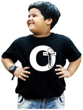 HEYUZE Boy Cotton Printed T-shirt - Black
