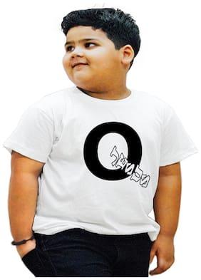 HEYUZE Boy Cotton Printed T-shirt - White