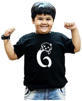 HEYUZE Boy Cotton Solid T-shirt - Black