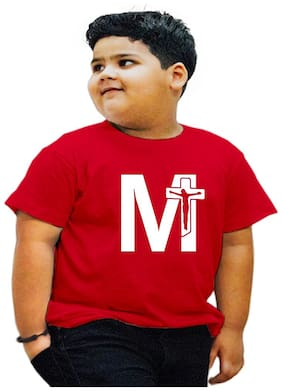 HEYUZE Boy Cotton Printed T-shirt - Red