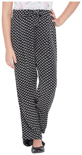 OXOLLOXO Girl Viscose Trousers - Black