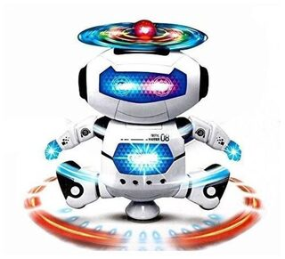 High Quality 360 Degree Naughty Dancing Robot Toy with LED Light and Music Feature