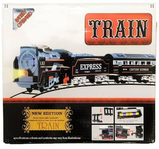 High Speed Metro with Round Track Battery Operated Train Set With Head Light WWQ-14