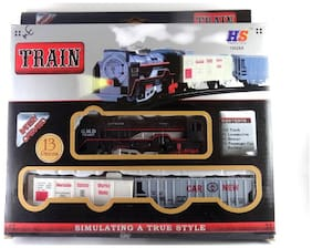 High Speed Metro with Round Track Battery Operated Train Set With Head Light WWQ-12