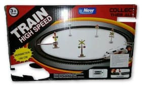 High Speed Metro with Round Track Battery Operated Train Set With Head Light WWQ-28