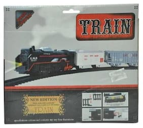 High Speed Metro with Round Track Battery Operated Train Set With Head Light WWQ-19