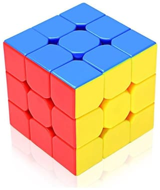 High Speed Magic Stickerless 3x3x3 Rubik's Cube  (1 pcs)