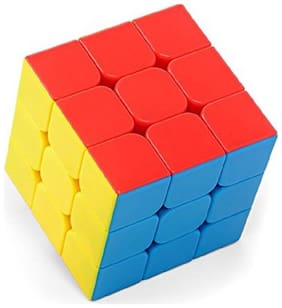 High Speed Stickerless 3x3 Magic Rubik Cube Puzzle Game Toy (1 pcs)