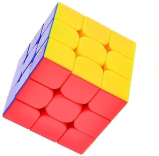 High Speed Ultra Smooth Non Toxic Tension Adjustable Stickerless 3x3x3 Rubik's Cube (Pack of 1)