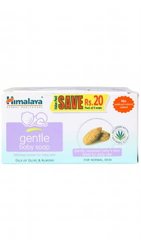 Himalaya Gentle Baby Soap 75gx4 (value Pack Save Rs. 20/-) Various