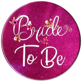 HIPPITY HOP Bride to BE Button Badges Decoration Material for Bachelorette Party;- 3 inch Approx;Metal Badge