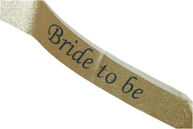 Hippity Hop Bride to Be Satin Glitter Sash Bachelorette Party Bridal Shower Wedding Decorative Signs Accessories Prop Wearable Costume (Gold Sash with Black Text)