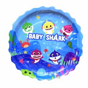 HIPPITY HOP Cute Baby Shark Party Plates;Baby Shark Theme;Paper Cutlery;Disposable Paper Plates;9 inches (Pack of 10)